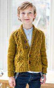 Brookklyn Tweedin lastenmallistossa on juuri se villatakki, jonka haluan tehdä Quopukselle – tosin aikuisen koossa.