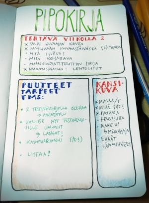 Höyrähdin myös bujo-uskoon ja hankin kassillisen värikyniä, tusseja, vesivärejä jne... (googlaa Bullet Journal). Uskon, että paluu paperille parantaa minut kalenterisokeudesta, joka haittaa elämääni.